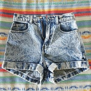 American Apparel High Waisted Acid Wash Shorts